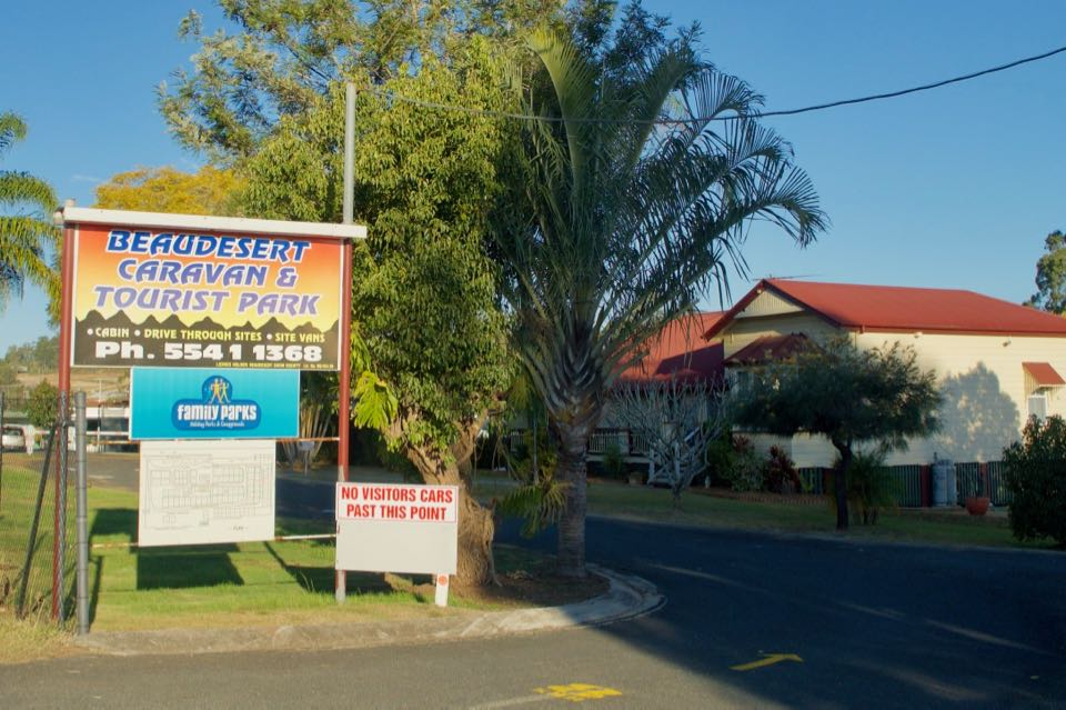 Beaudesert Caravan Park Entrance